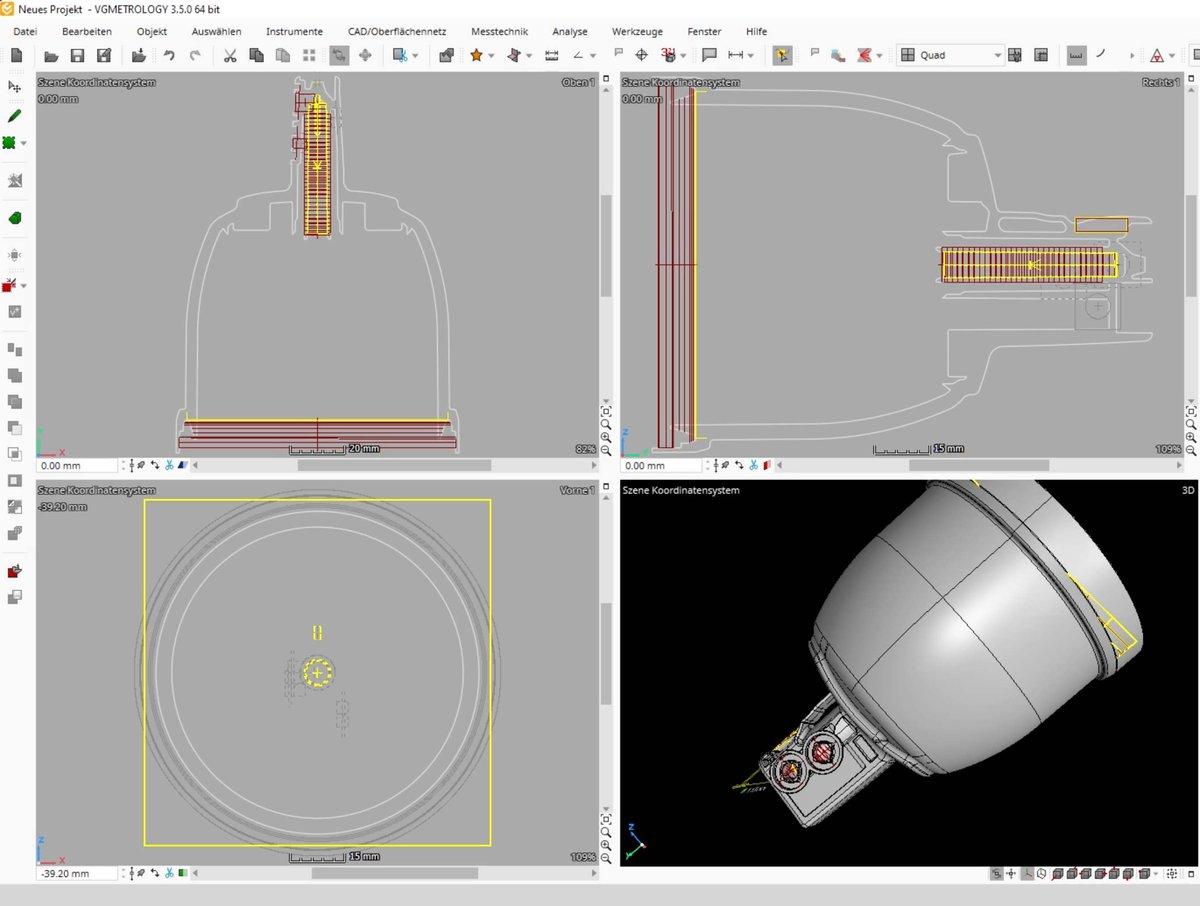 VG Metrology view of warped part